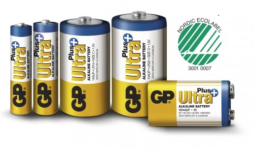 Batterier GP ultra plus på Lamphuset